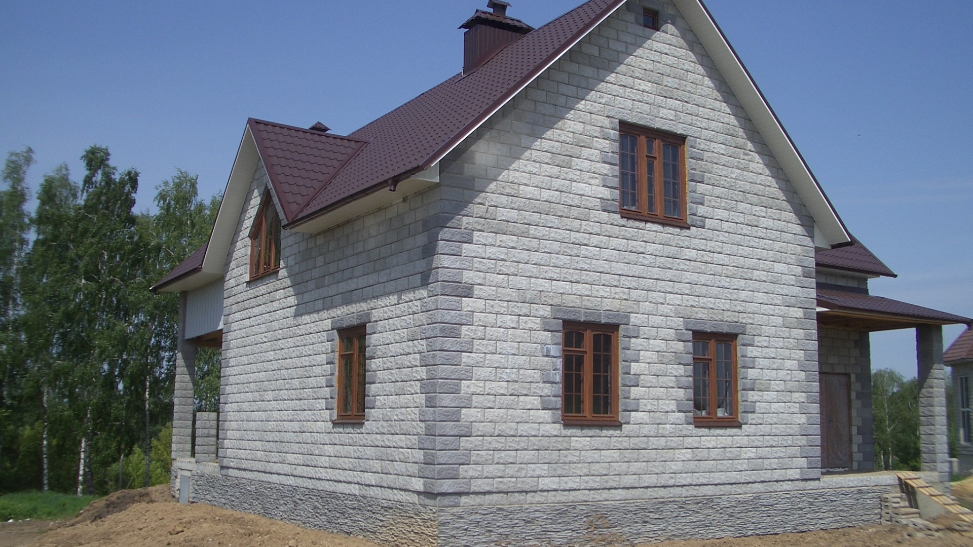 строительство дом пеноблок